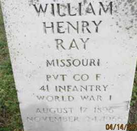 RAY, WILLIAM HENRY - Pemiscot County, Missouri | WILLIAM HENRY RAY - Missouri Gravestone Photos