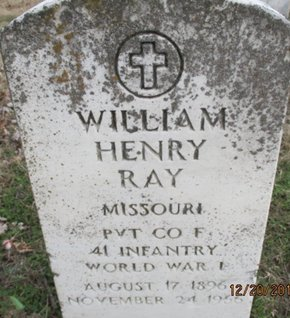 RAY, WILLIAM HENRY VETERAN - Pemiscot County, Missouri | WILLIAM HENRY VETERAN RAY - Missouri Gravestone Photos