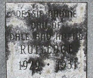 RUTLEDGE, DESSIE NADINE - Pemiscot County, Missouri | DESSIE NADINE RUTLEDGE - Missouri Gravestone Photos