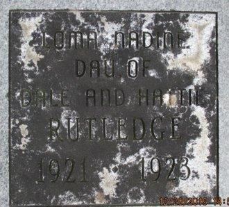RUTLEDGE, LOMA NADINE - Pemiscot County, Missouri | LOMA NADINE RUTLEDGE - Missouri Gravestone Photos