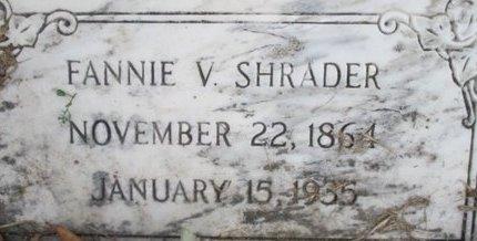 SHRADER, FANNIE V. - Pemiscot County, Missouri | FANNIE V. SHRADER - Missouri Gravestone Photos