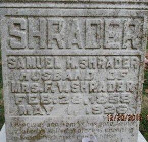 SHRADER, SAMUEL H. - Pemiscot County, Missouri | SAMUEL H. SHRADER - Missouri Gravestone Photos