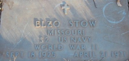 STOW, ELZO VETERAN - Pemiscot County, Missouri   ELZO VETERAN STOW - Missouri Gravestone Photos