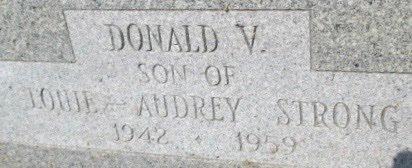 STRONG, DONALD VEST - Pemiscot County, Missouri   DONALD VEST STRONG - Missouri Gravestone Photos