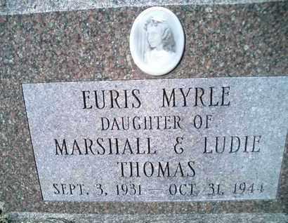 THOMAS, EURIS MYRLE - Pemiscot County, Missouri | EURIS MYRLE THOMAS - Missouri Gravestone Photos