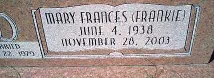THOMAS, MARY FRANCES - Pemiscot County, Missouri   MARY FRANCES THOMAS - Missouri Gravestone Photos