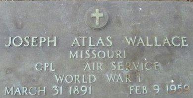 WALLACE, JOSEPH ATLAS VETERAN WWI - Pemiscot County, Missouri | JOSEPH ATLAS VETERAN WWI WALLACE - Missouri Gravestone Photos