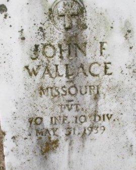 WALLACE, JOHN FRANKLIN VETERAN - Pemiscot County, Missouri | JOHN FRANKLIN VETERAN WALLACE - Missouri Gravestone Photos