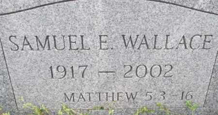 WALLACE, SAMUEL E. - Pemiscot County, Missouri | SAMUEL E. WALLACE - Missouri Gravestone Photos