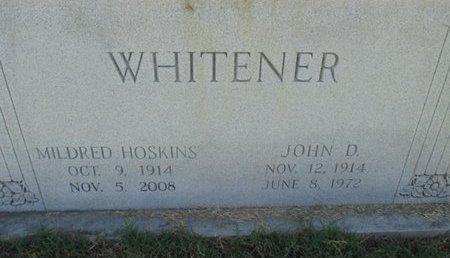 WHITENER, JOHN DAVID - Pemiscot County, Missouri | JOHN DAVID WHITENER - Missouri Gravestone Photos