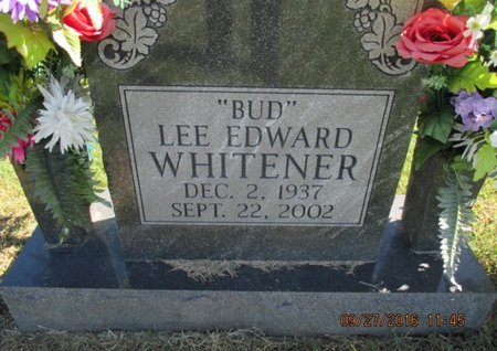 "WHITENER, LEE EDWARD ""BUD"" - Pemiscot County, Missouri | LEE EDWARD ""BUD"" WHITENER - Missouri Gravestone Photos"
