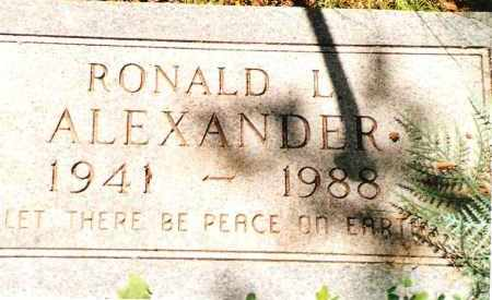 ALEXANDER, RONALD L. - Phelps County, Missouri | RONALD L. ALEXANDER - Missouri Gravestone Photos