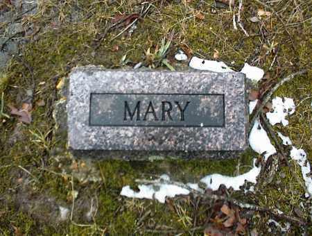 BLUE, MARY (FOOTSTONE) - Phelps County, Missouri | MARY (FOOTSTONE) BLUE - Missouri Gravestone Photos