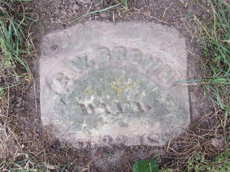 BROWN, GEORGE WASHINGTON - Phelps County, Missouri   GEORGE WASHINGTON BROWN - Missouri Gravestone Photos
