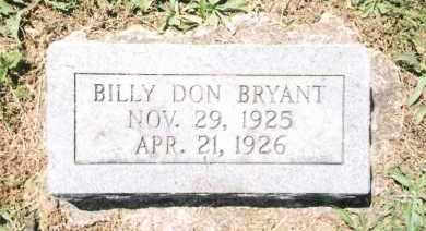 BRYANT, BILLY DON - Phelps County, Missouri | BILLY DON BRYANT - Missouri Gravestone Photos