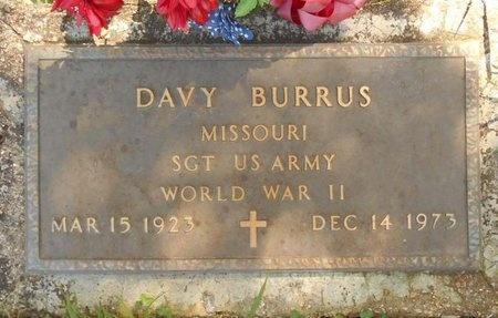 BURRUS, DAVY (VETERAN WWII) - Phelps County, Missouri | DAVY (VETERAN WWII) BURRUS - Missouri Gravestone Photos