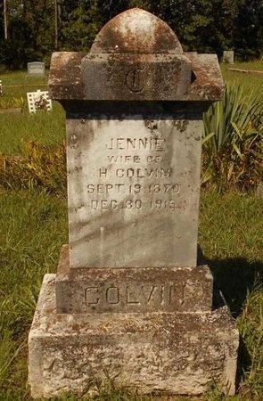 BENNETT COLVIN, JENNIE A. - Phelps County, Missouri | JENNIE A. BENNETT COLVIN - Missouri Gravestone Photos