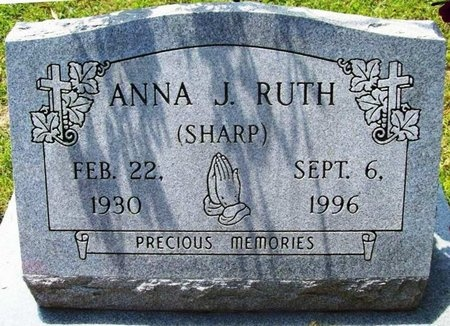 SHARP RUTH, ANNA J. - Phelps County, Missouri | ANNA J. SHARP RUTH - Missouri Gravestone Photos