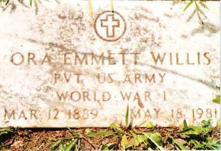 WILLIS, ORA EMMETT VETERAN WWI - Phelps County, Missouri | ORA EMMETT VETERAN WWI WILLIS - Missouri Gravestone Photos