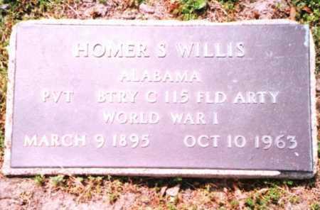 WILLIS, HOMER S. VETERAN WWI - Phelps County, Missouri   HOMER S. VETERAN WWI WILLIS - Missouri Gravestone Photos