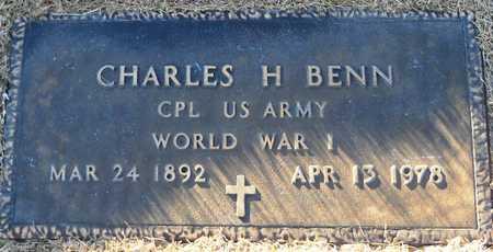 BENN, CHARLES H VETERAN - Pike County, Missouri | CHARLES H VETERAN BENN - Missouri Gravestone Photos
