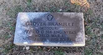 "BRAMBLET, GROVER GILBERT ""JACK"" VETERAN - Pike County, Missouri | GROVER GILBERT ""JACK"" VETERAN BRAMBLET - Missouri Gravestone Photos"