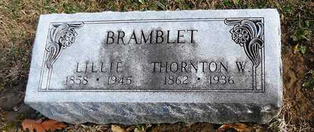 BRAMBLET, WESLEY THORNTON - Pike County, Missouri   WESLEY THORNTON BRAMBLET - Missouri Gravestone Photos