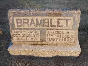 "BRAMBLET, MARY JANE ""MOLLIE"" - Pike County, Missouri | MARY JANE ""MOLLIE"" BRAMBLET - Missouri Gravestone Photos"