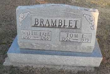 BRAMBLET, TOM E - Pike County, Missouri   TOM E BRAMBLET - Missouri Gravestone Photos