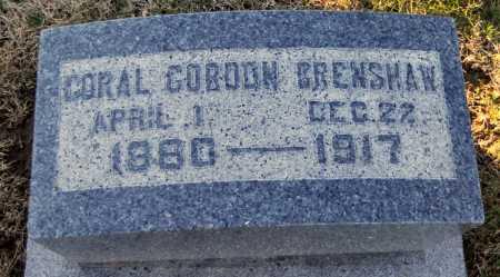 GORDON CRENSHAW, CORAL - Pike County, Missouri   CORAL GORDON CRENSHAW - Missouri Gravestone Photos