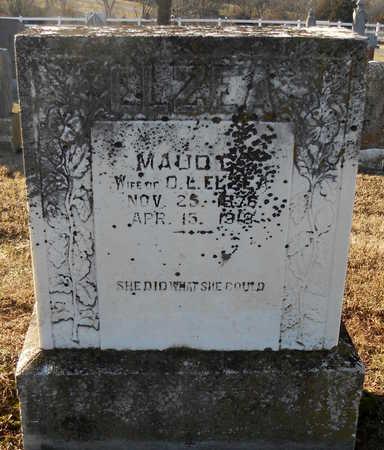 JONES ELZEA, MAUDE CARMEN - Pike County, Missouri | MAUDE CARMEN JONES ELZEA - Missouri Gravestone Photos