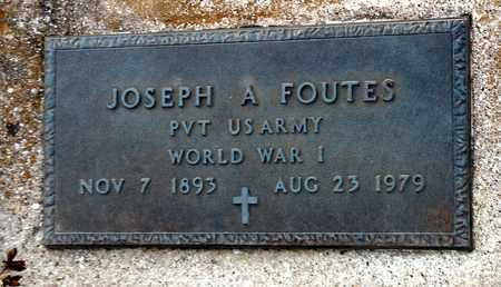 FOUTES, JOSEPH A VETERAN - Pike County, Missouri | JOSEPH A VETERAN FOUTES - Missouri Gravestone Photos