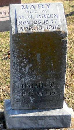 GREEN, MARY - Pike County, Missouri | MARY GREEN - Missouri Gravestone Photos