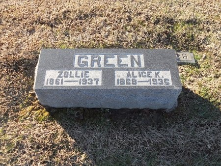 GREEN, ALICE - Pike County, Missouri | ALICE GREEN - Missouri Gravestone Photos