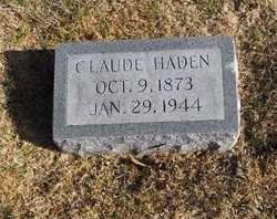HADEN, CLAUDE - Pike County, Missouri | CLAUDE HADEN - Missouri Gravestone Photos