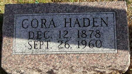 HADEN, CORA - Pike County, Missouri | CORA HADEN - Missouri Gravestone Photos