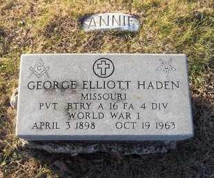HADEN, ANNIE - Pike County, Missouri | ANNIE HADEN - Missouri Gravestone Photos