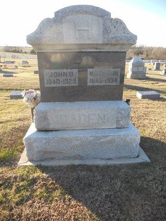 HOSTETTER HADEN, MARY ANN - Pike County, Missouri | MARY ANN HOSTETTER HADEN - Missouri Gravestone Photos