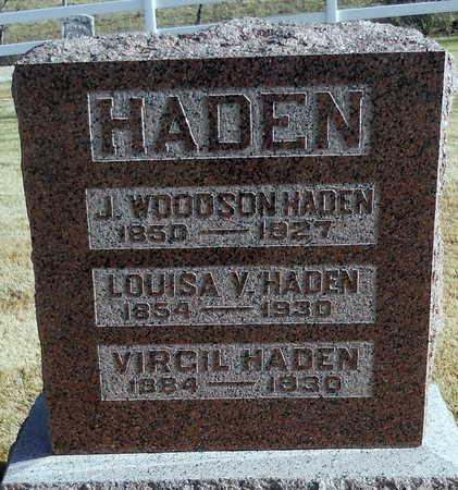 HOLMAN HADEN, LOUISE VIRGINIA - Pike County, Missouri | LOUISE VIRGINIA HOLMAN HADEN - Missouri Gravestone Photos