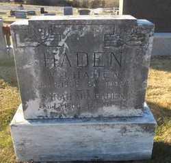 HADEN, SARAH ADA - Pike County, Missouri   SARAH ADA HADEN - Missouri Gravestone Photos