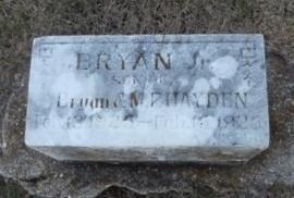HADEN, BRYAN JR - Pike County, Missouri | BRYAN JR HADEN - Missouri Gravestone Photos
