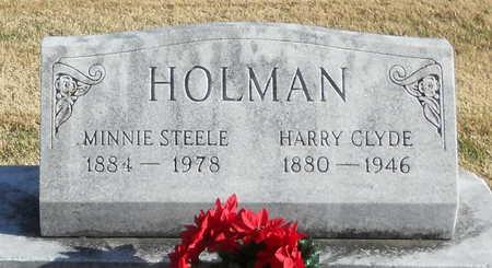HOLMAN, HARRY CLYDE - Pike County, Missouri | HARRY CLYDE HOLMAN - Missouri Gravestone Photos