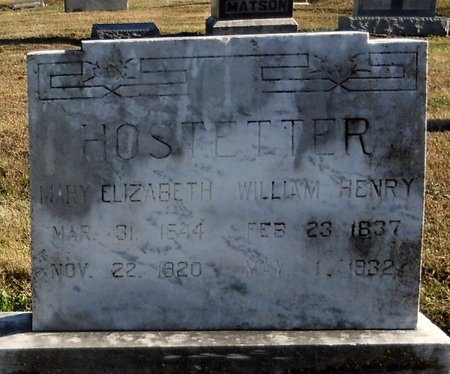 HOSTETTER, MARY ELIZABETH - Pike County, Missouri   MARY ELIZABETH HOSTETTER - Missouri Gravestone Photos