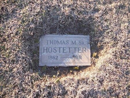 HOSTETTER, THOMAS M, SR - Pike County, Missouri | THOMAS M, SR HOSTETTER - Missouri Gravestone Photos