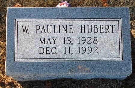 HUBERT, W PAULINE - Pike County, Missouri | W PAULINE HUBERT - Missouri Gravestone Photos