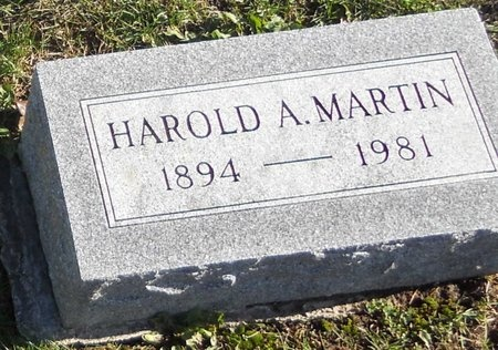 MARTIN, HAROLD A - Pike County, Missouri | HAROLD A MARTIN - Missouri Gravestone Photos