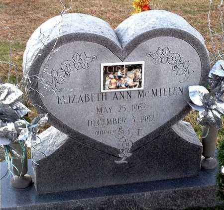 MCMILLEN, ELIZABETH ANN - Pike County, Missouri | ELIZABETH ANN MCMILLEN - Missouri Gravestone Photos