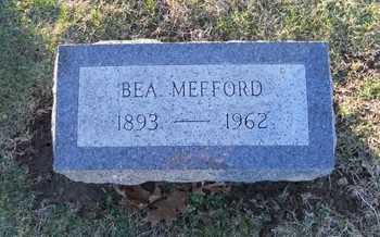 MEFFORD, BEA - Pike County, Missouri   BEA MEFFORD - Missouri Gravestone Photos
