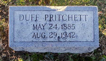 PRITCHETT, DUFF - Pike County, Missouri | DUFF PRITCHETT - Missouri Gravestone Photos
