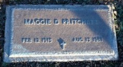 PRITCHETT, MAGGIE D - Pike County, Missouri   MAGGIE D PRITCHETT - Missouri Gravestone Photos